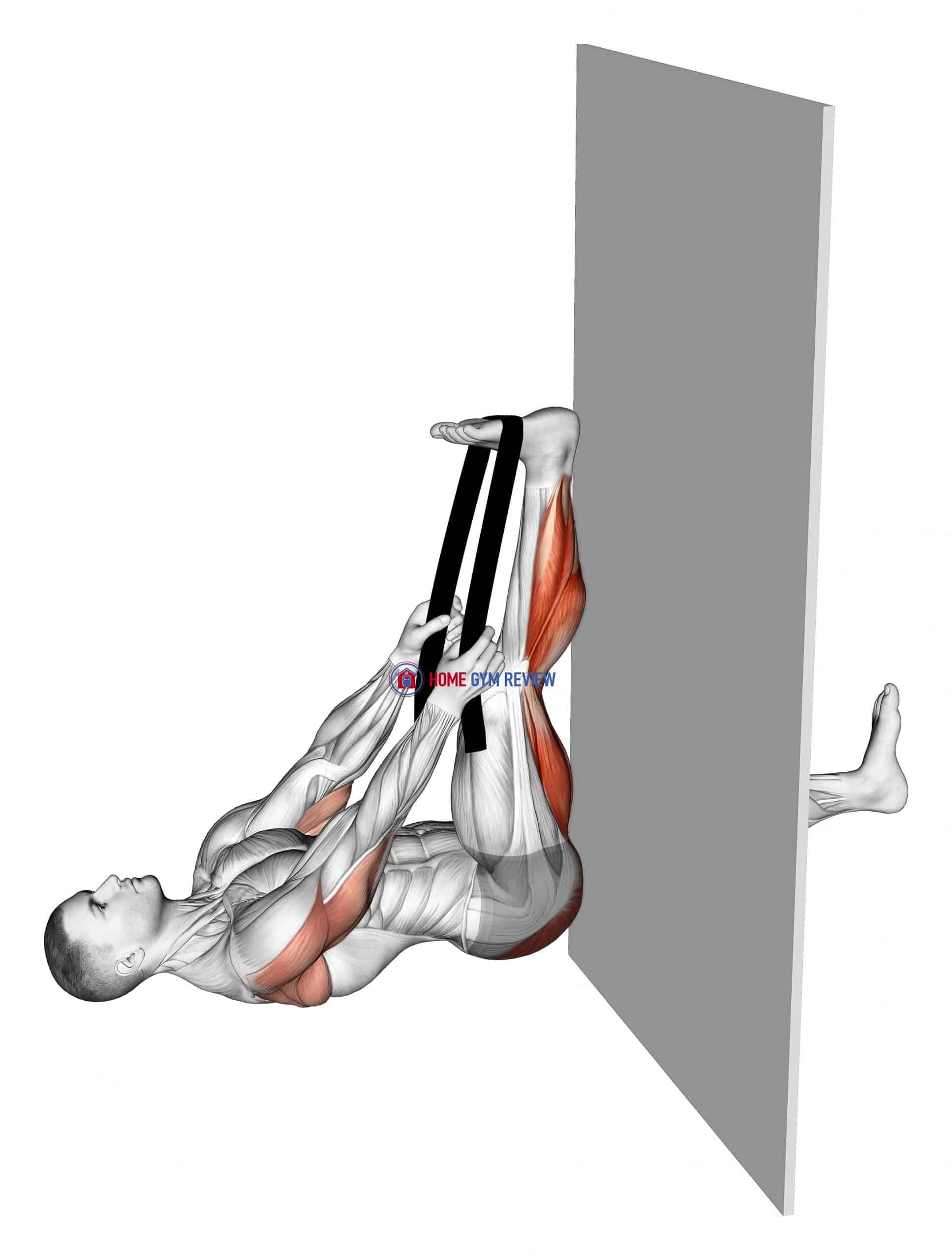 Recumbent Knee Flexor Stretch With Towel