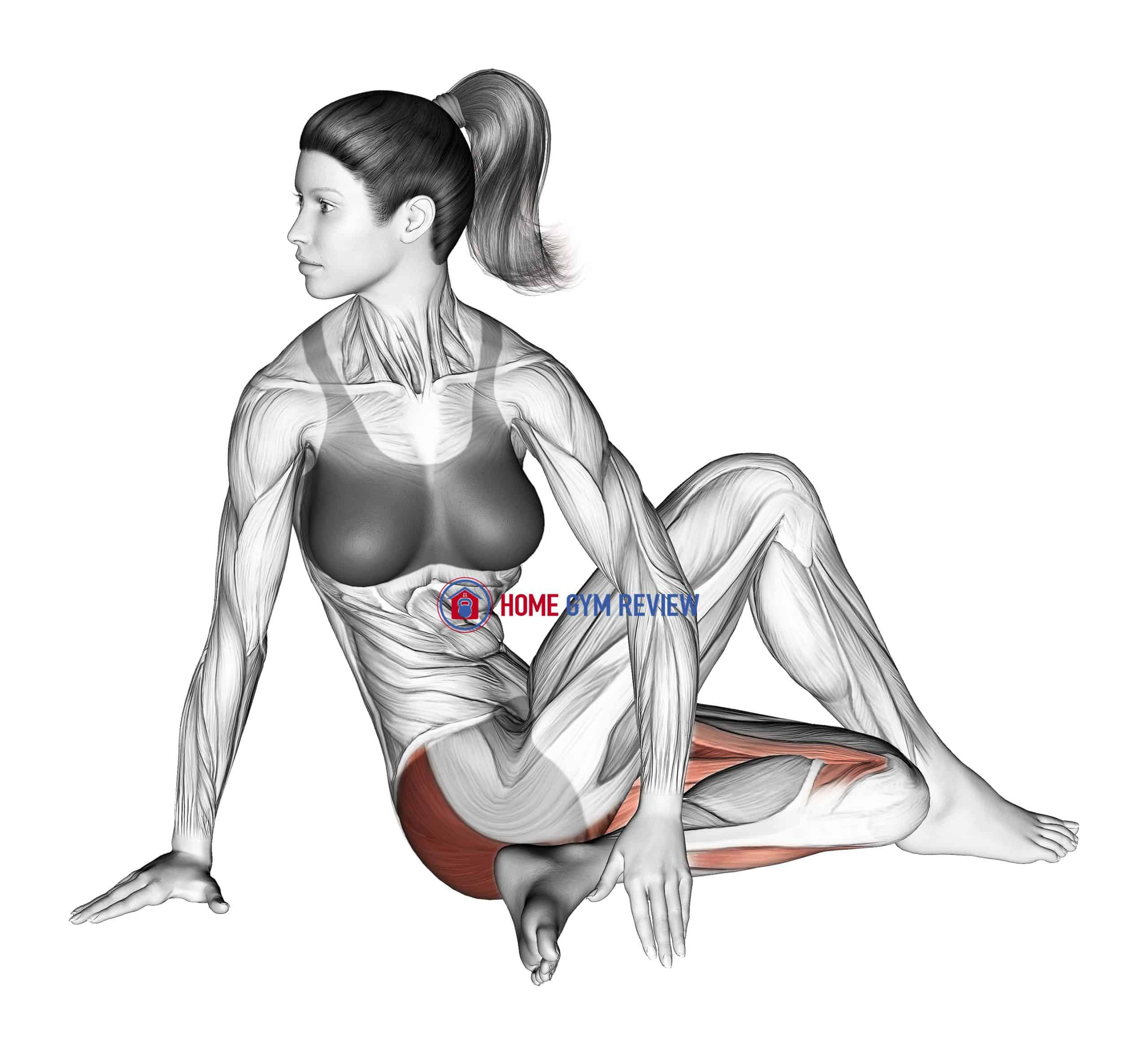Seated Knee Up Extended Rotation Stretch
