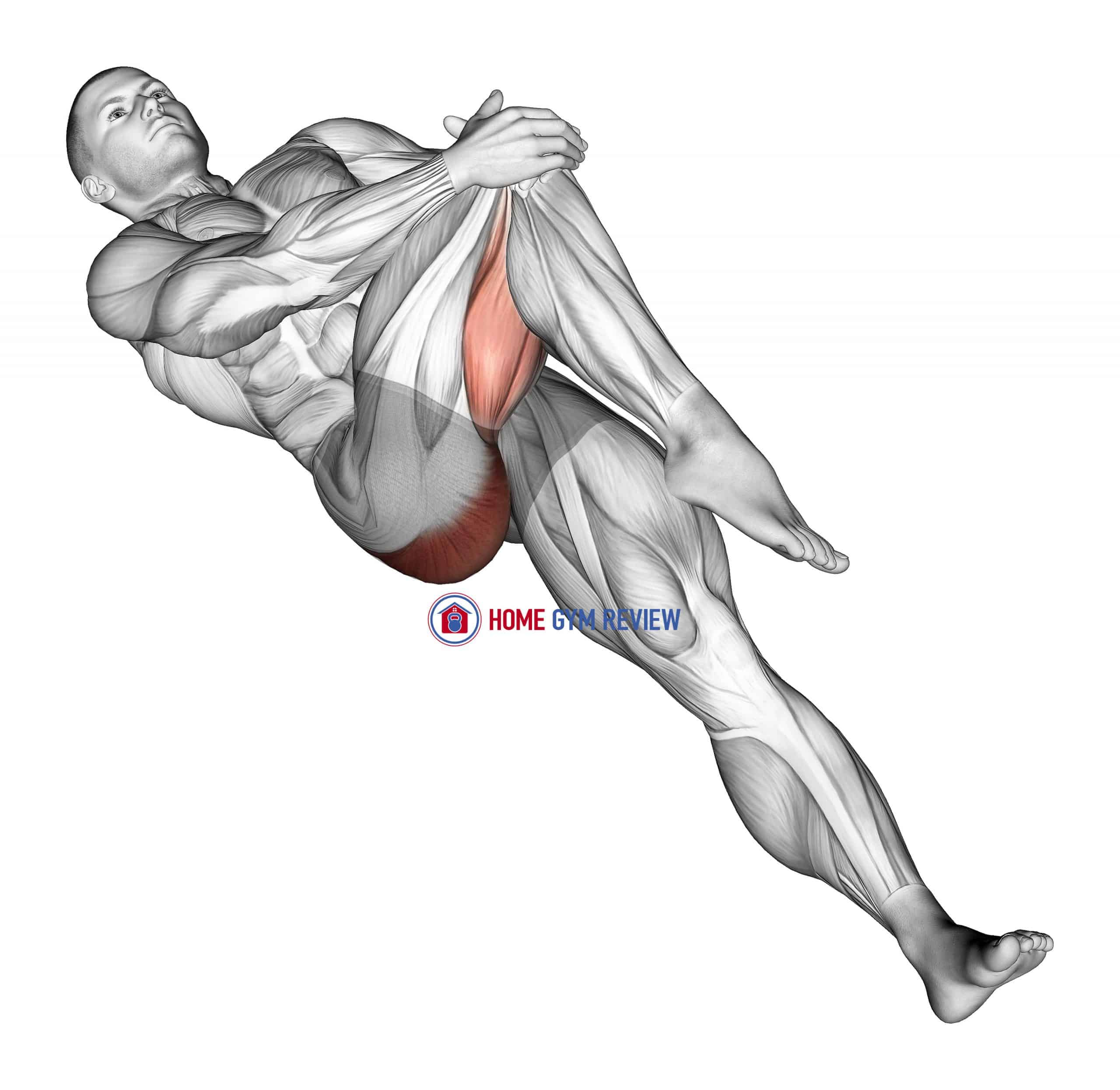Lying Cross Over Knee Pull Up Stretch