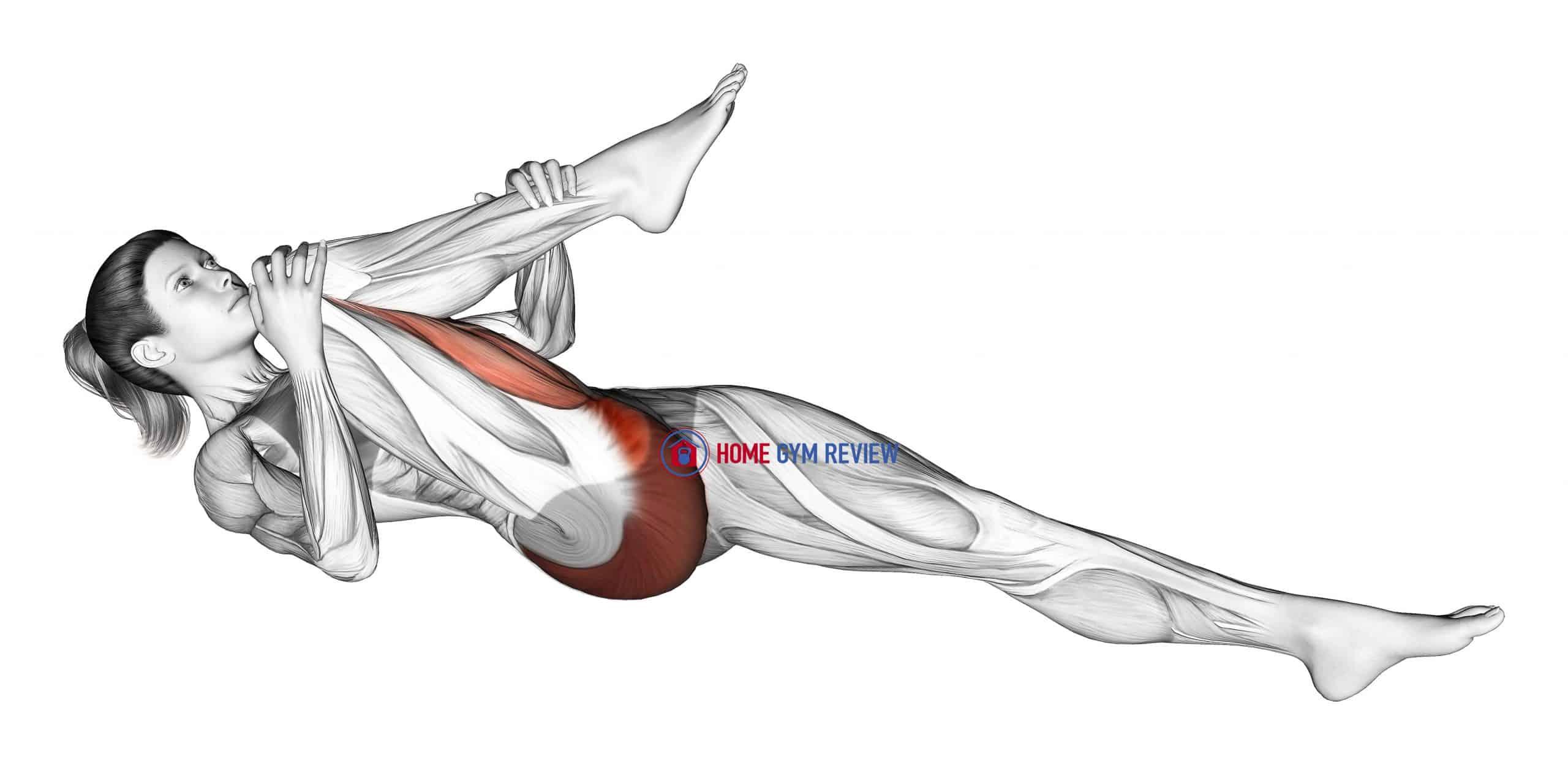 Recumbent Hip External Rotator And Hip Extensor Stretch
