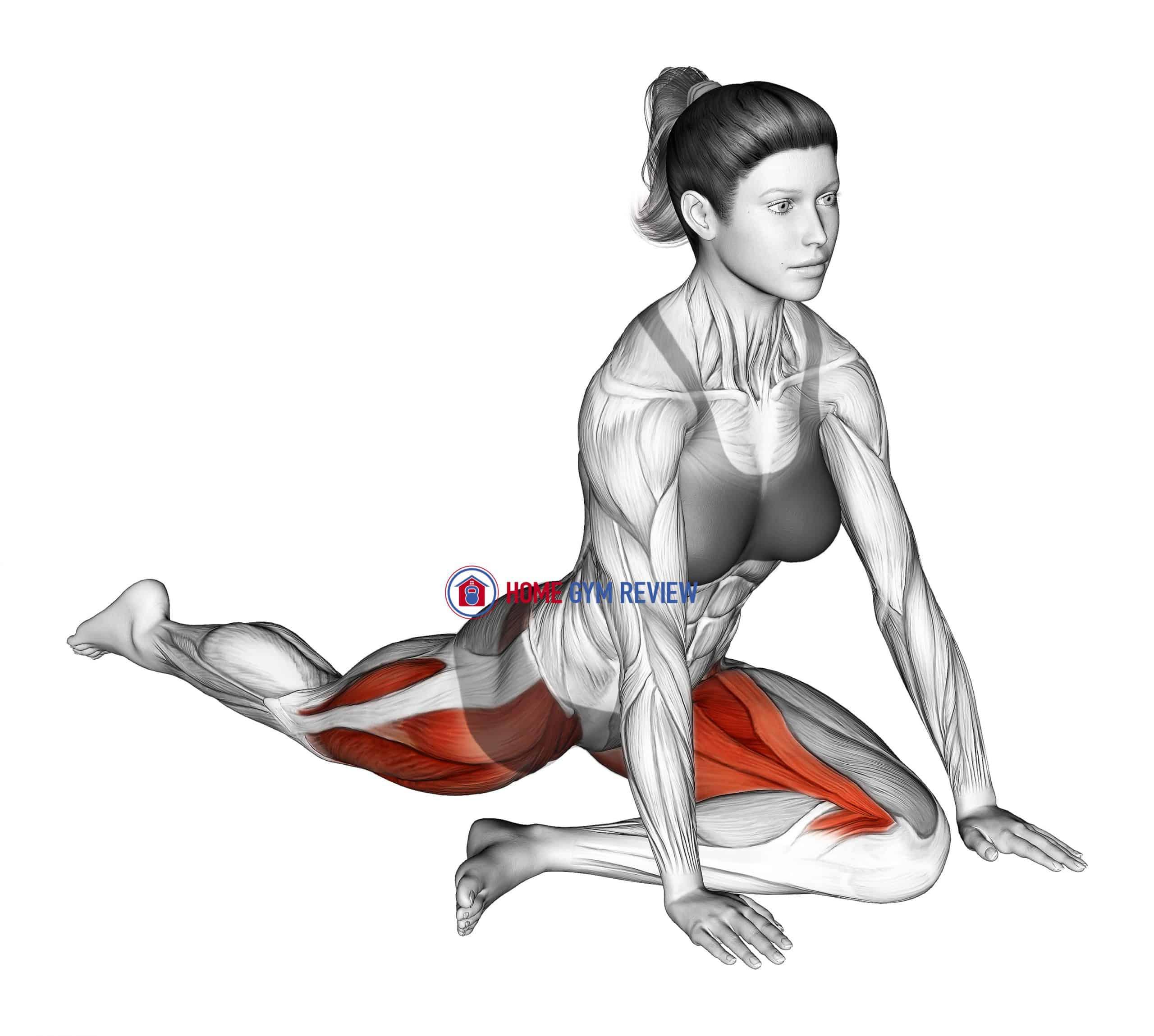 Lying Leg Tuck Hip Stretch