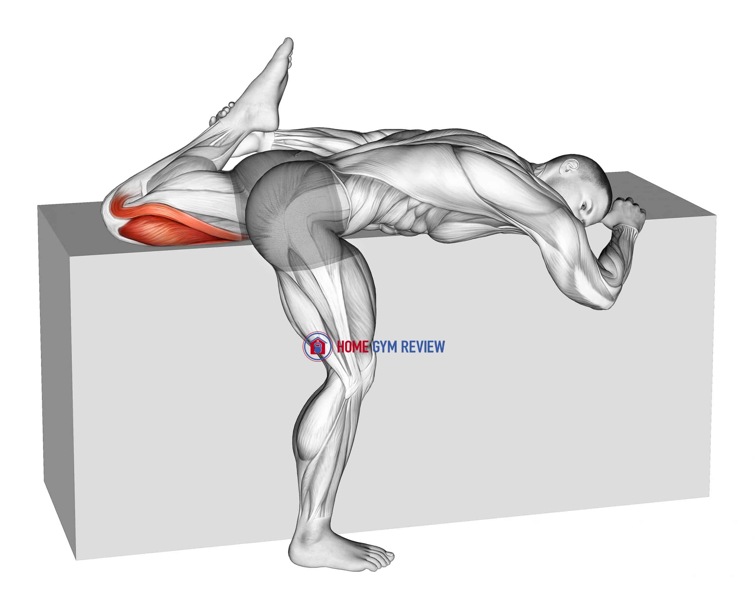 Quadriceps Stretch On Box