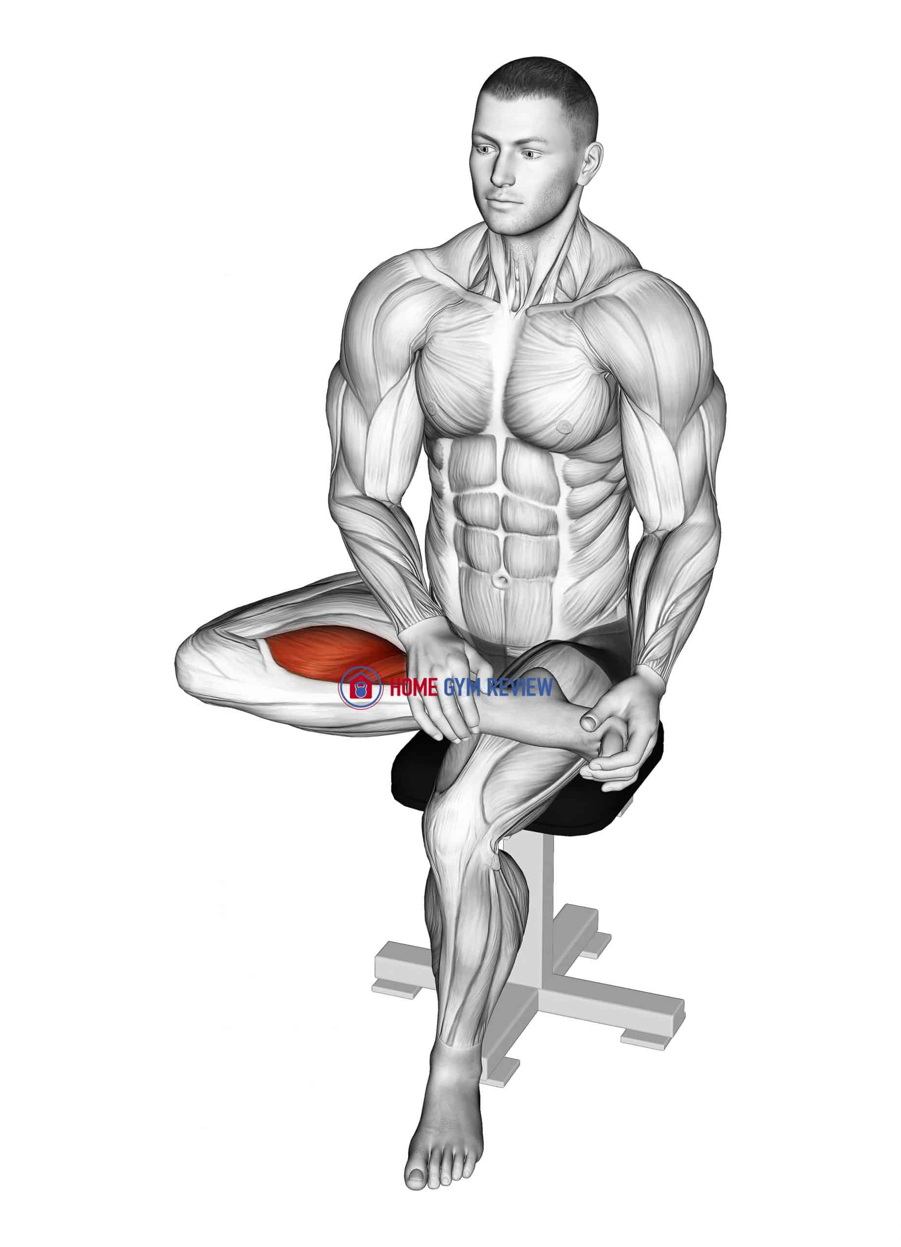 Seated Toe Flexor Stretch