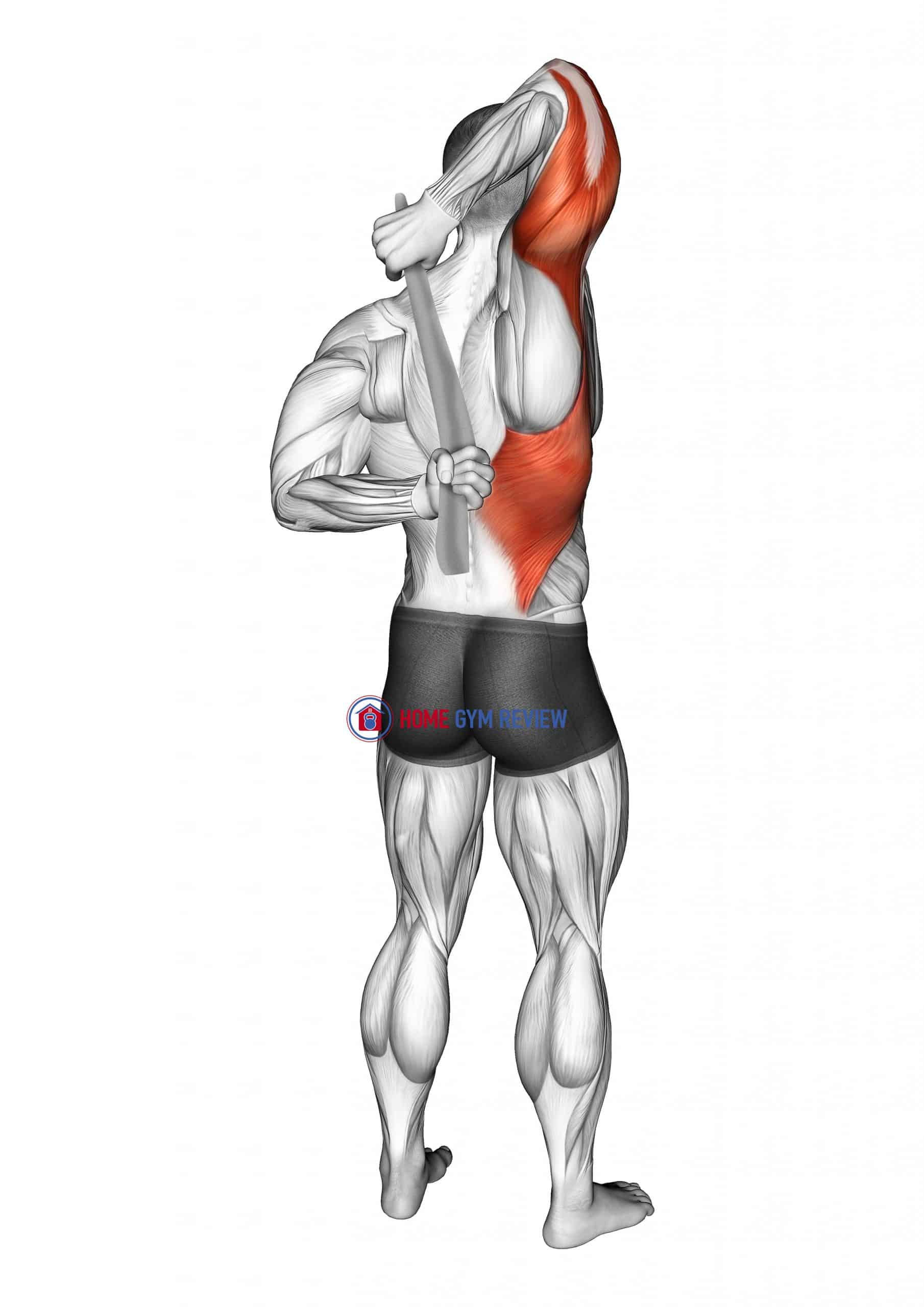 Shoulder Stretch With Towel Behind The Back