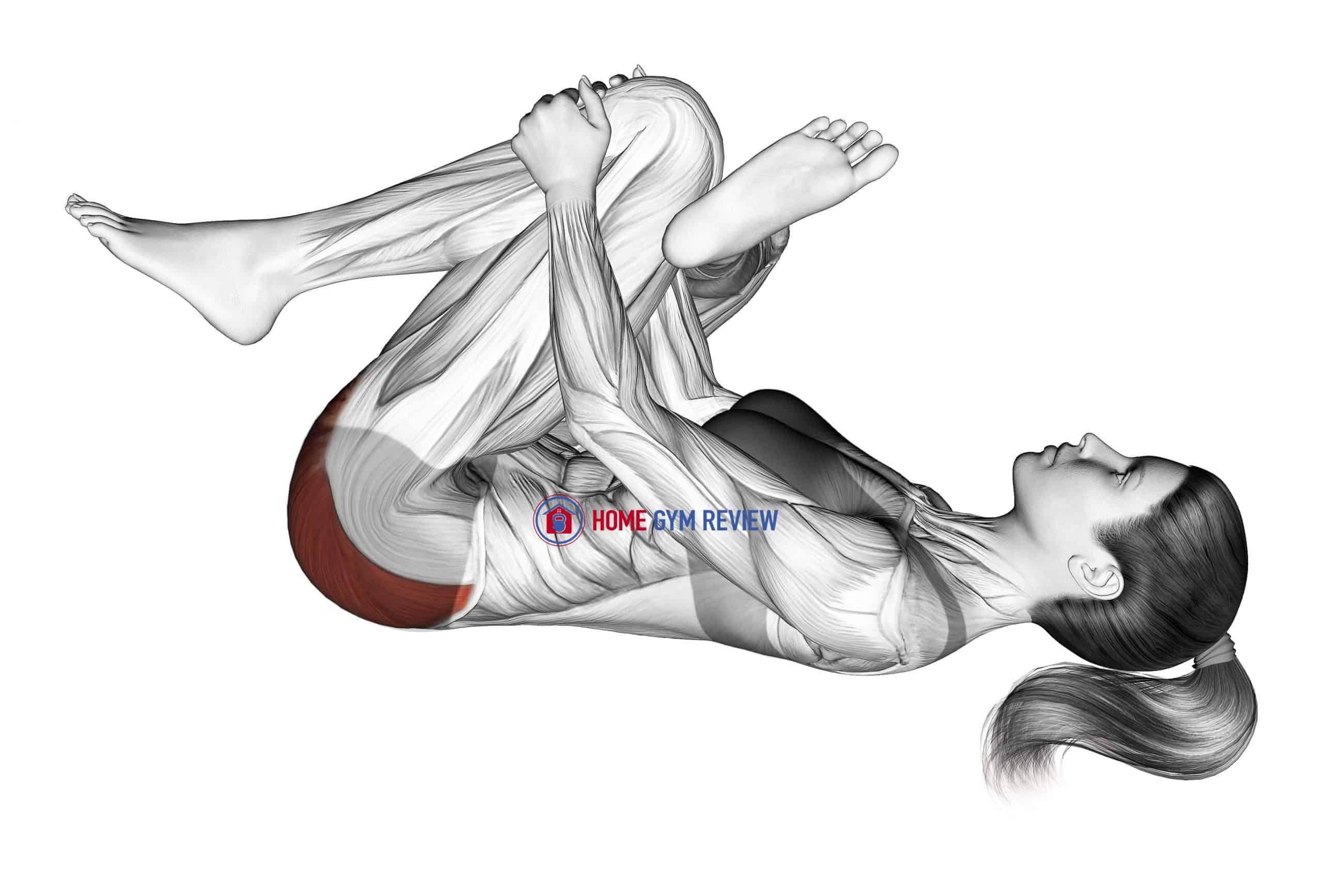 Recumbent Hip External Rotator And Hip Extensor Stretch (Crossed Leg)