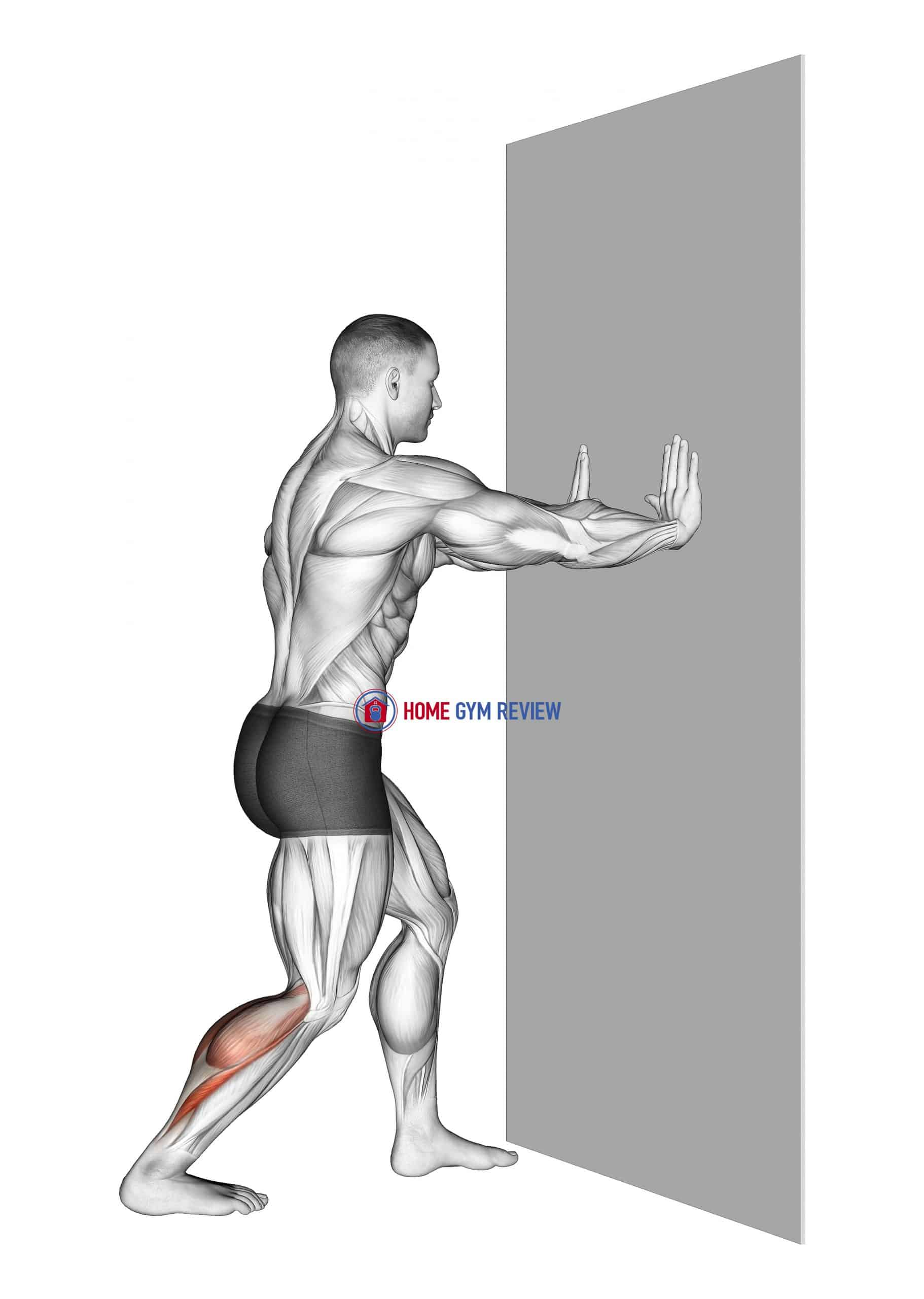 Leaning Heel Back Achilles Stretch