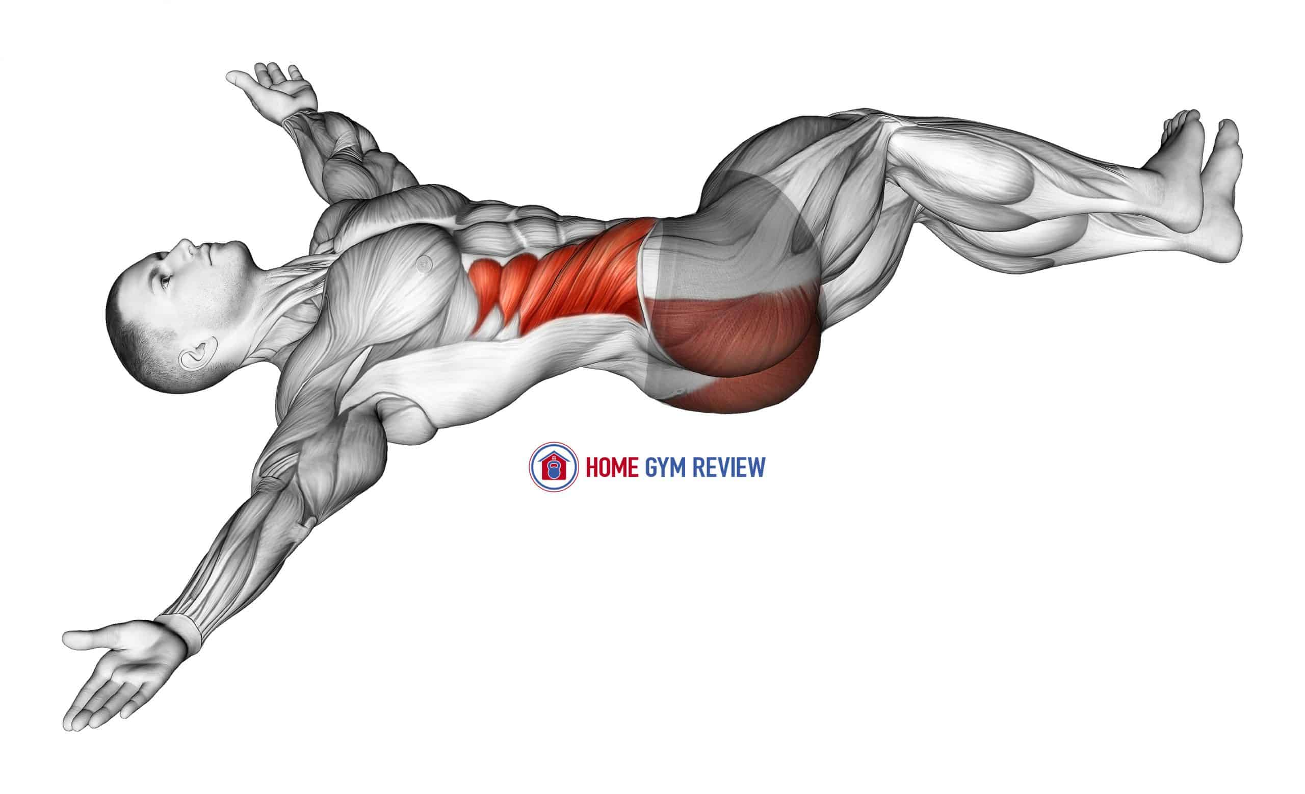 Lying Knee Roll Over Stretch