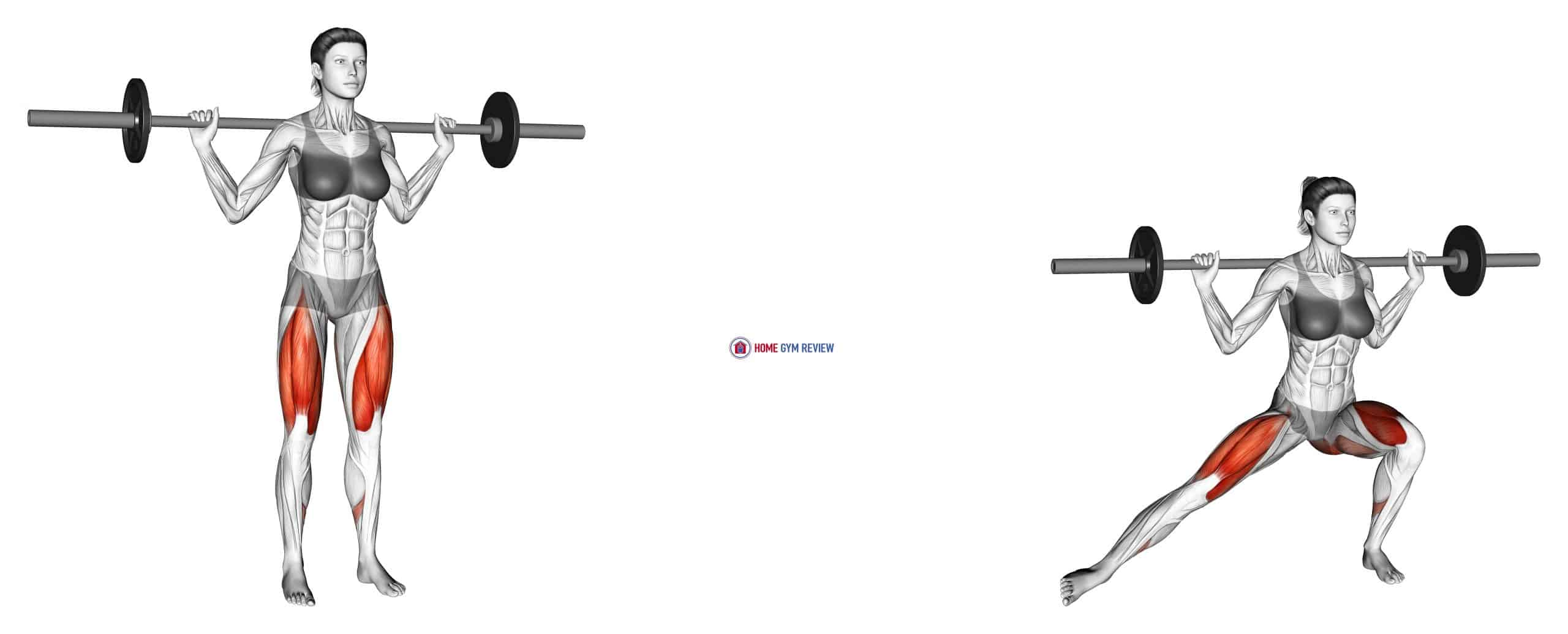 Barbell Lateral Lunge (female)