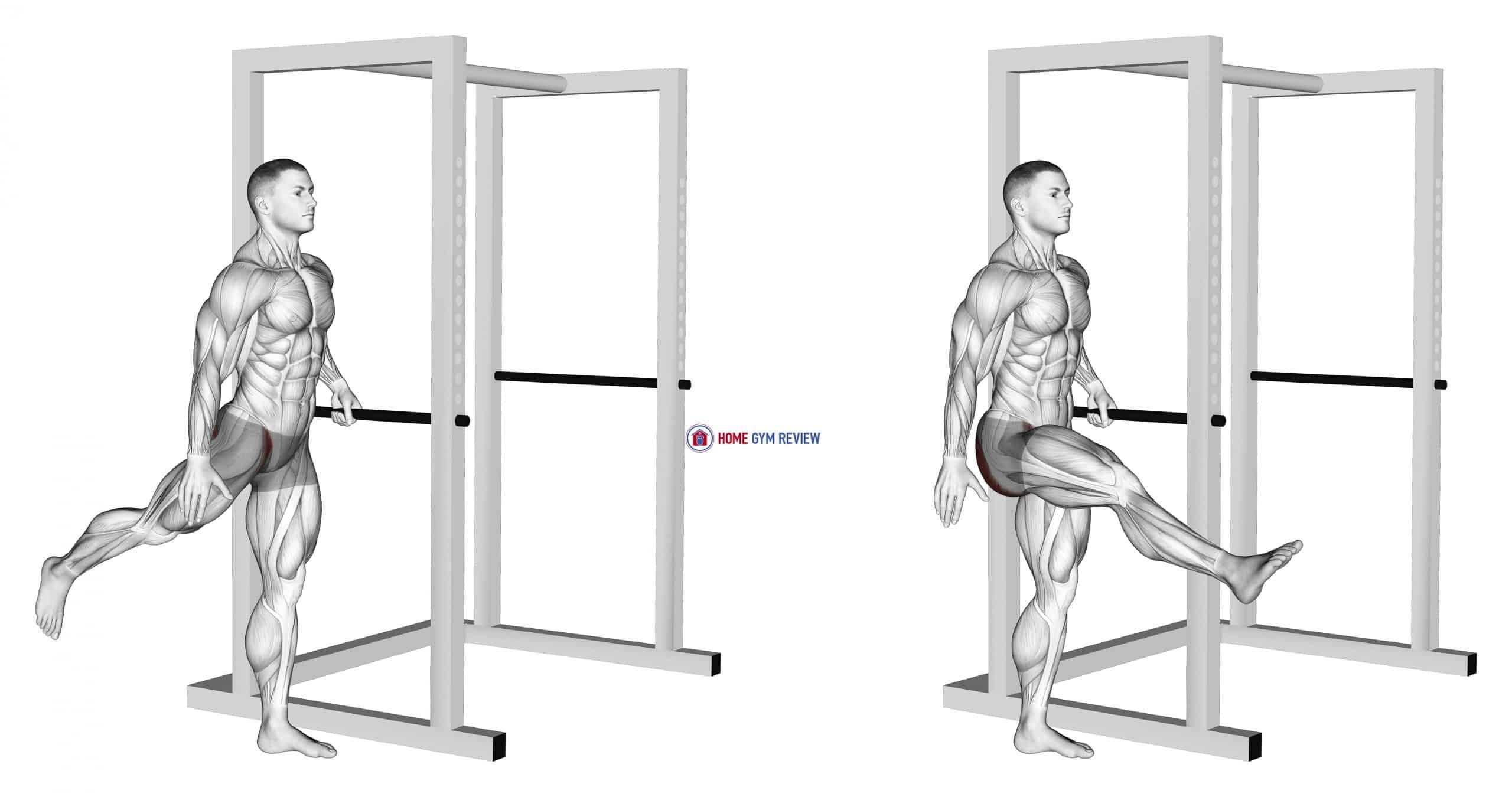 Back Forward Leg Swings (male)