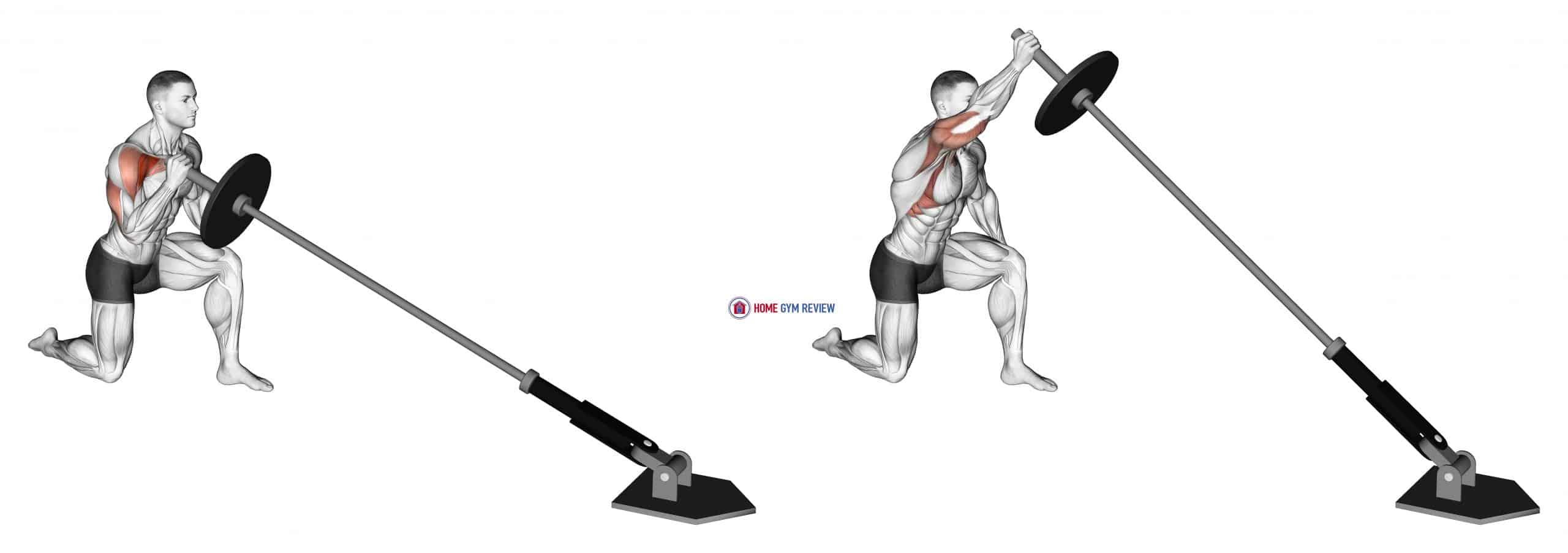 Landmine Kneeling One Arm Shoulder Press