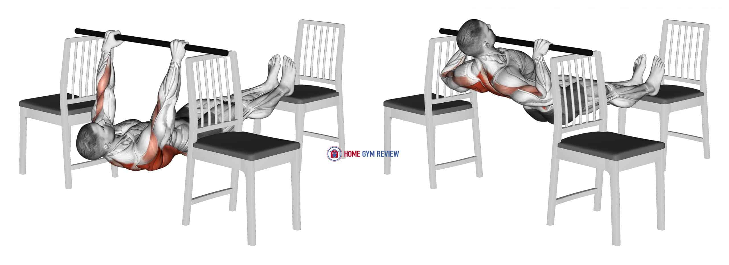 Elevanted Inverted Row between 3 Chairs