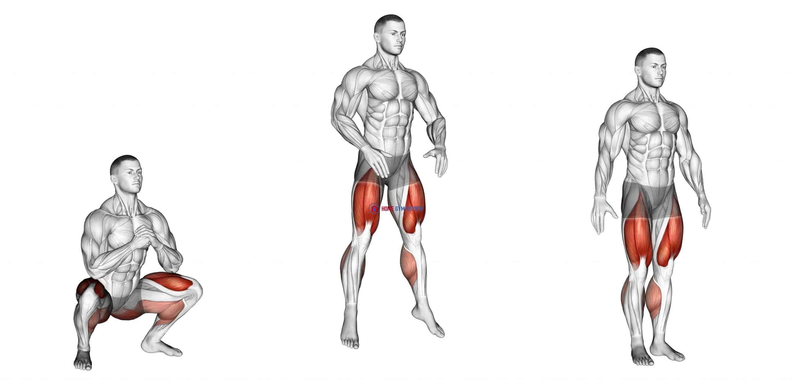 Bodyweight Drop Jump Squat