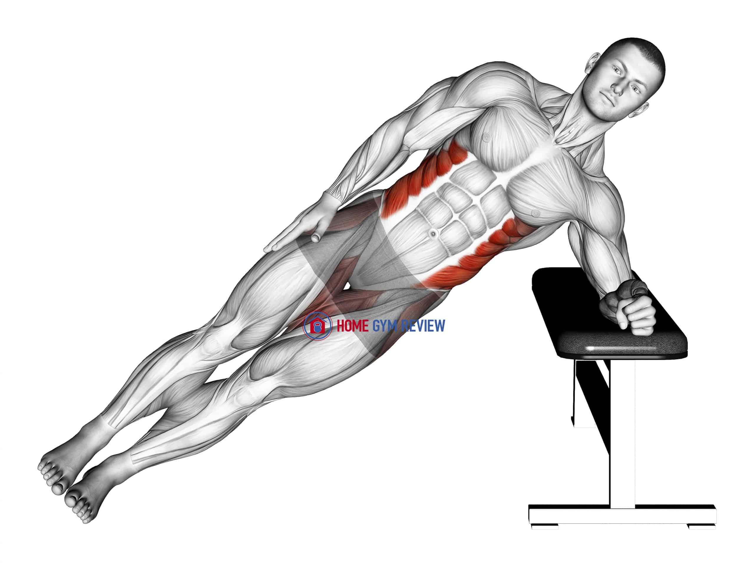 Bodyweight Incline Side Plank