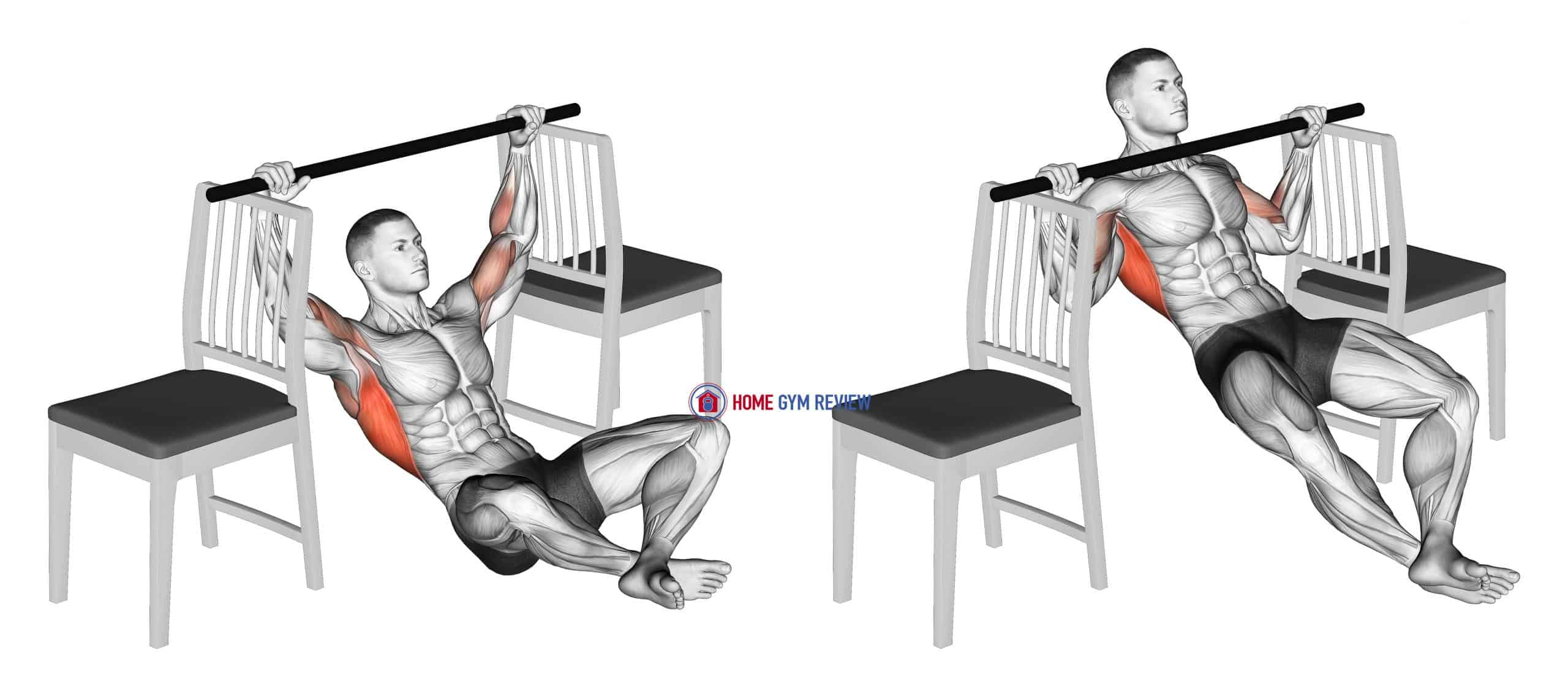 Seated Pull-up between Chairs