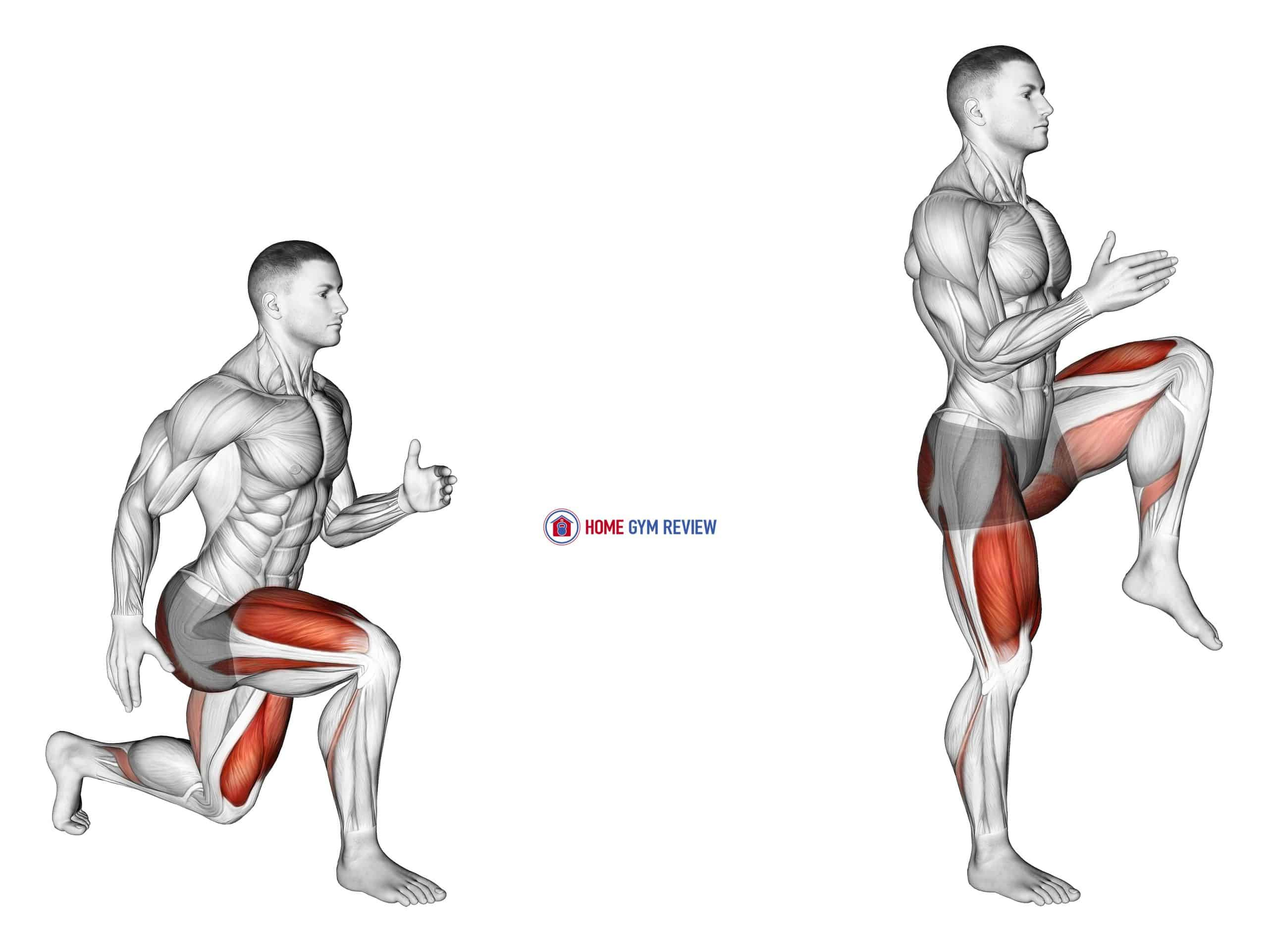 Lunge with Leg Lift