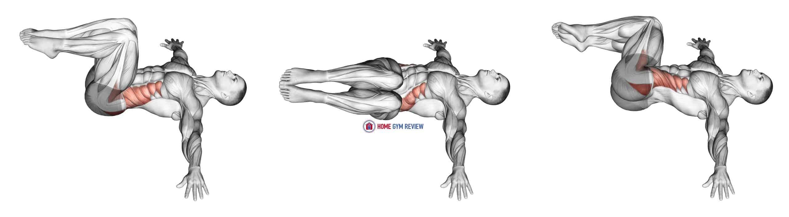 Bent knee Lying Twist (male)