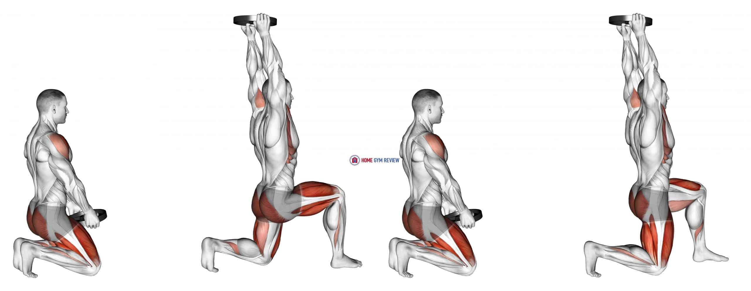 Weighted Kneeling Step with Swing