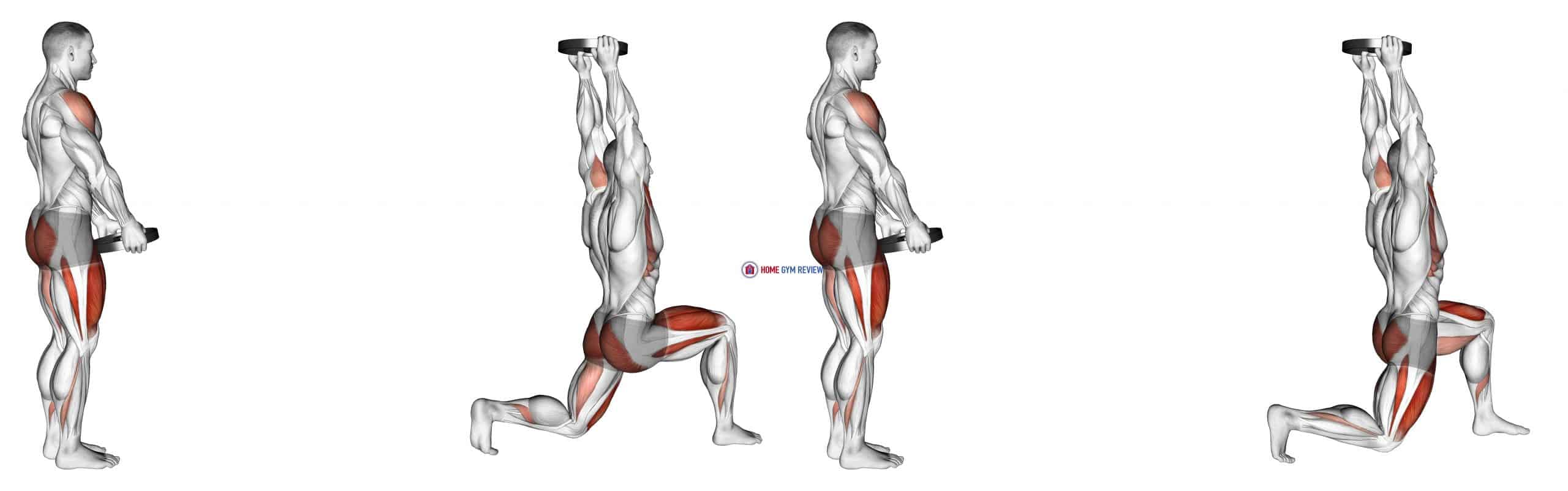 Weighted Lunge with Swing