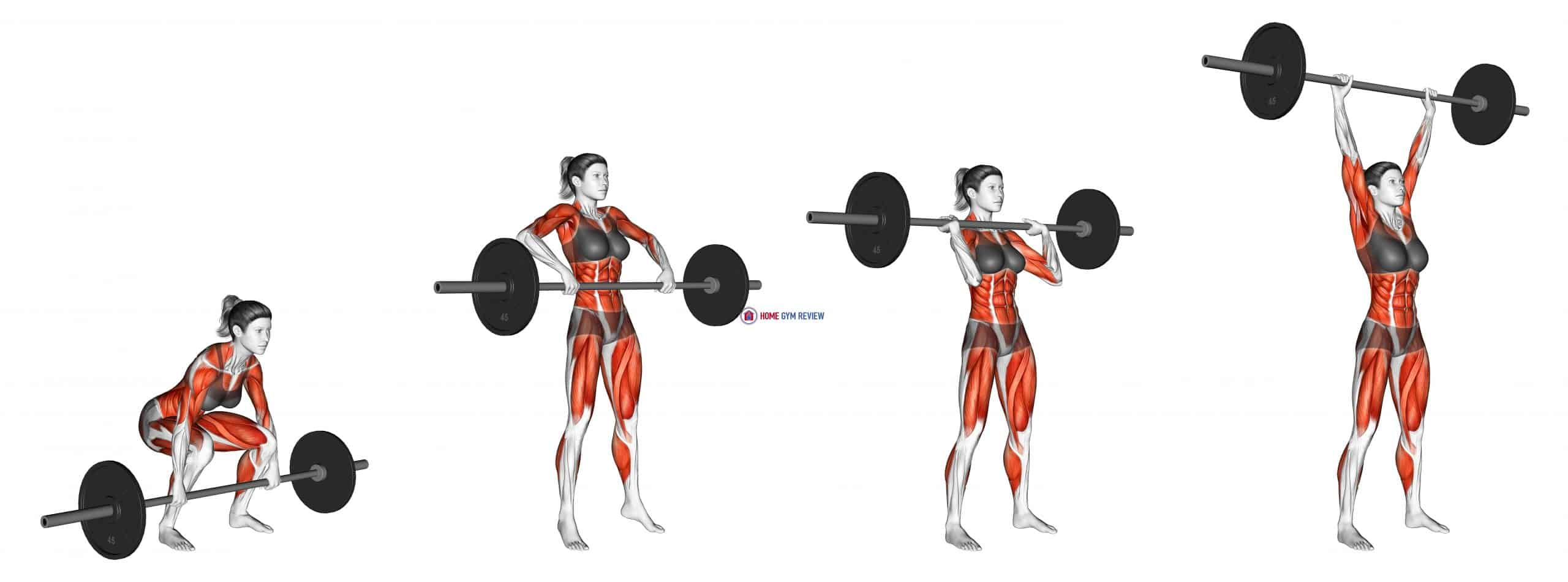 Barbell Clean and Press (female)