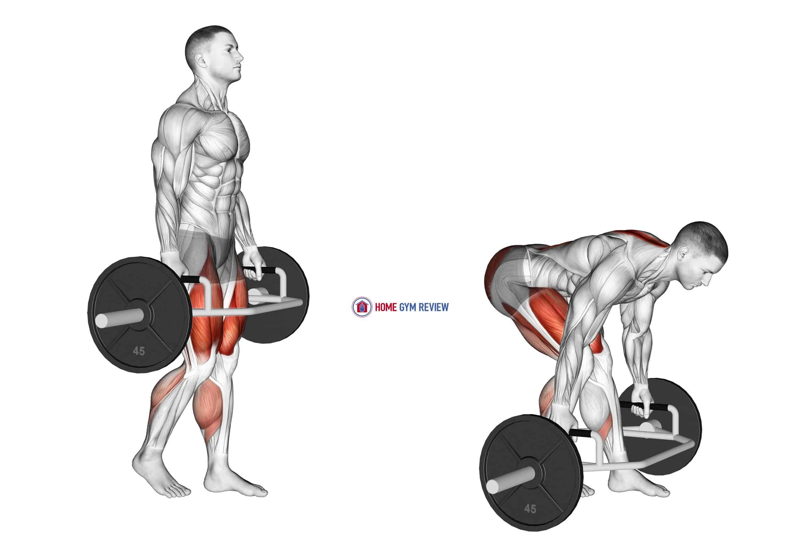 Trap Bar Split Stance RDL