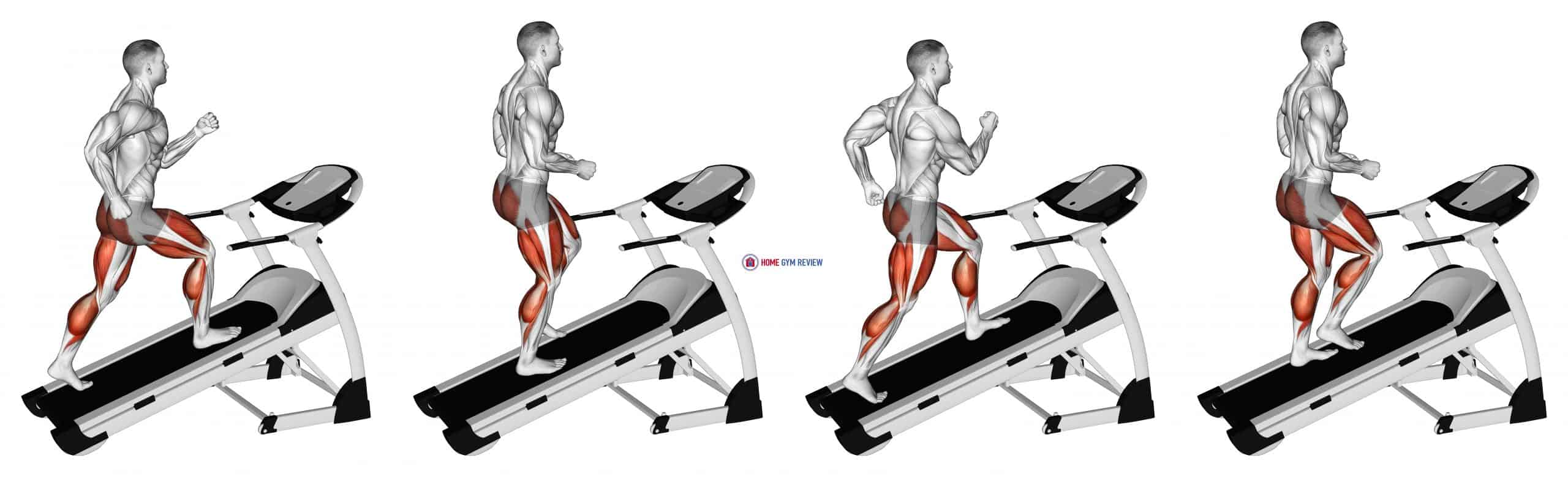 Walking on Incline Treadmill