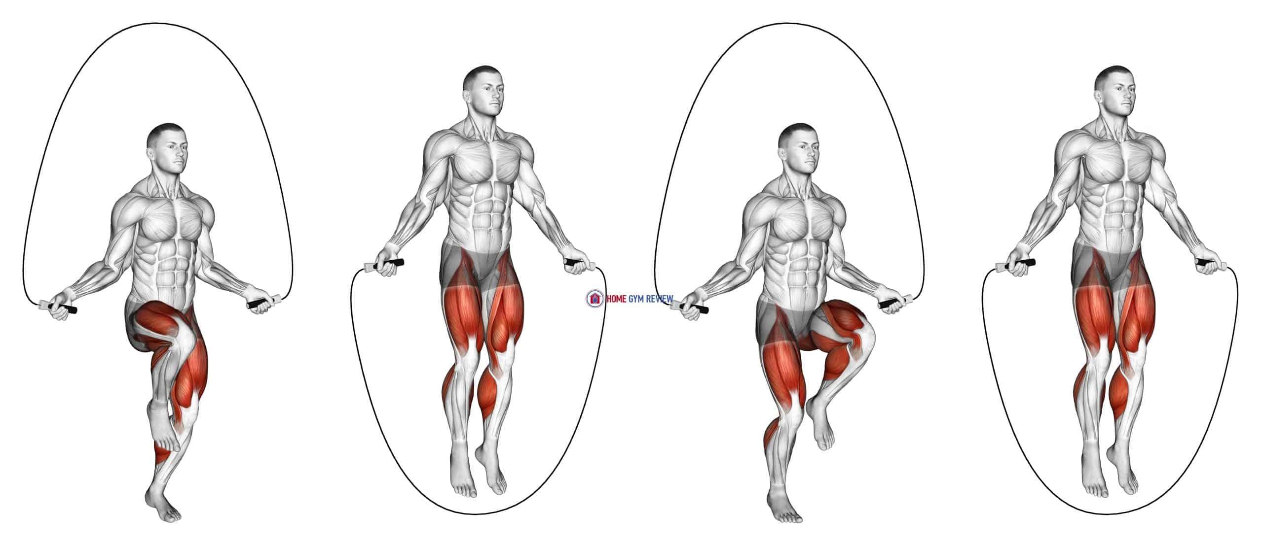 High Knee Jump Rope (male)