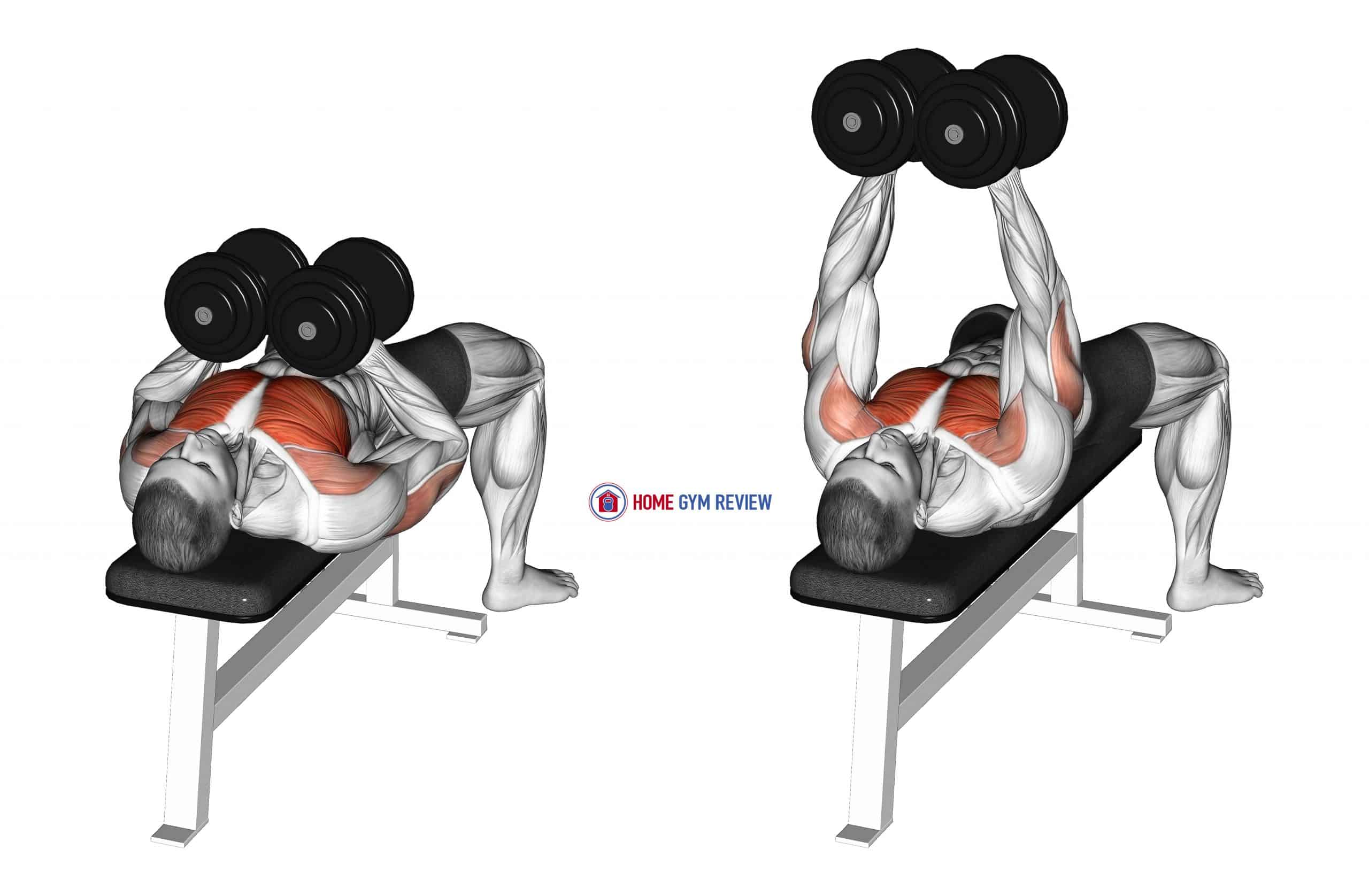 Dumbbell Squeeze Bench Press