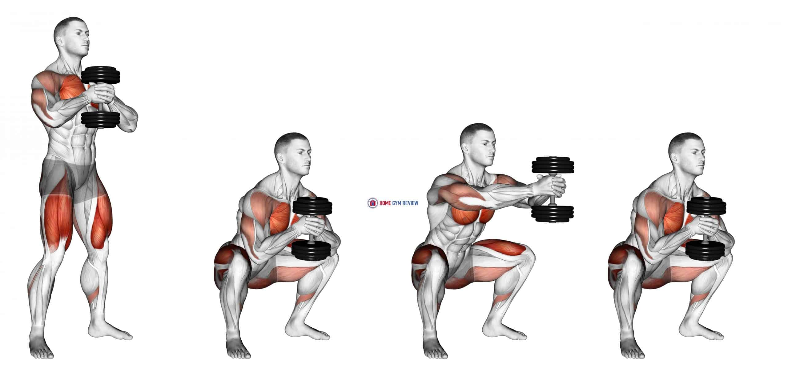 Dumbbell Press Squat