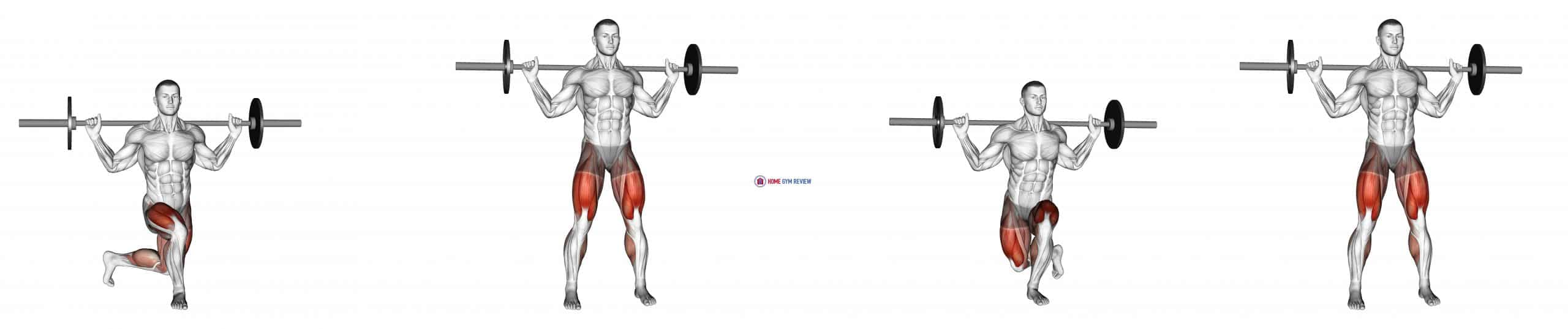Barbell Curtsey Lunge
