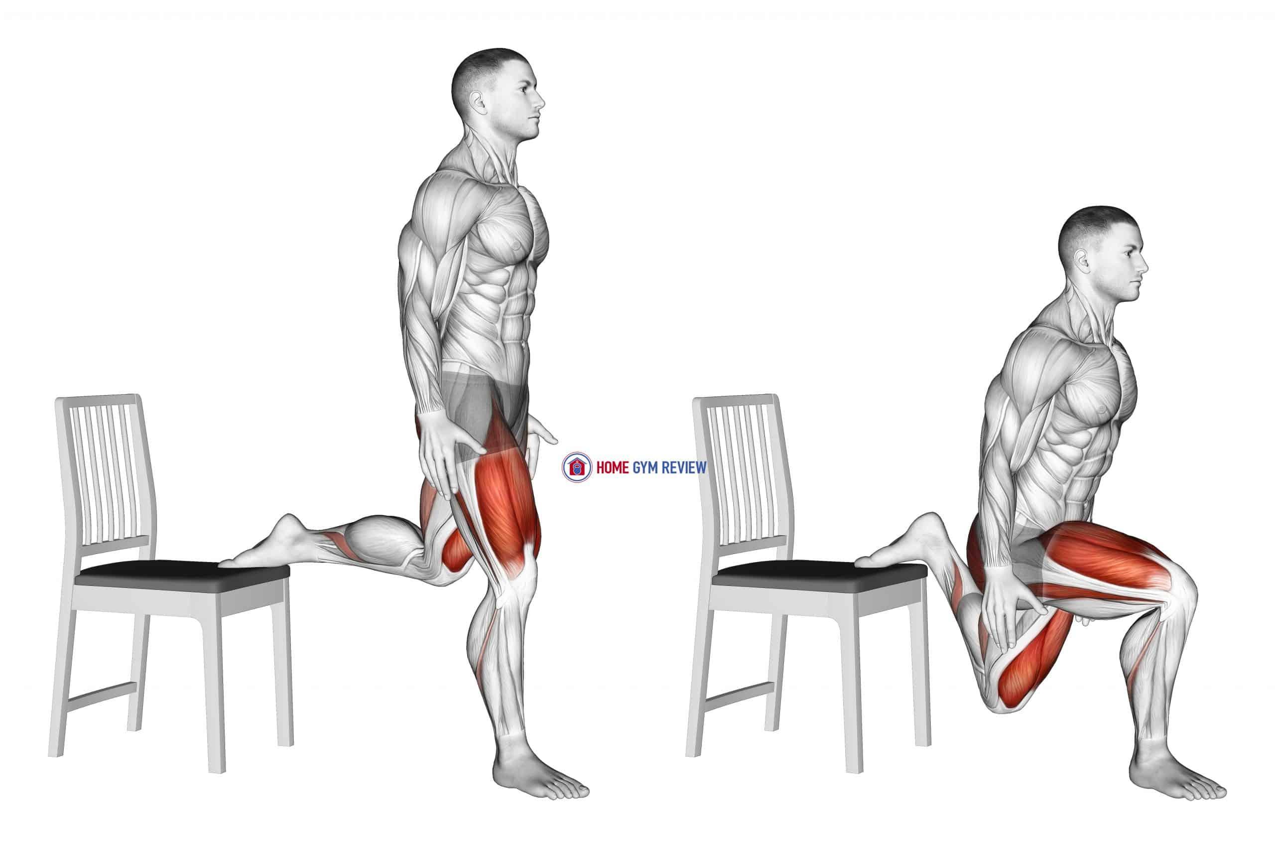 Bulgarian Split Squat with Chair