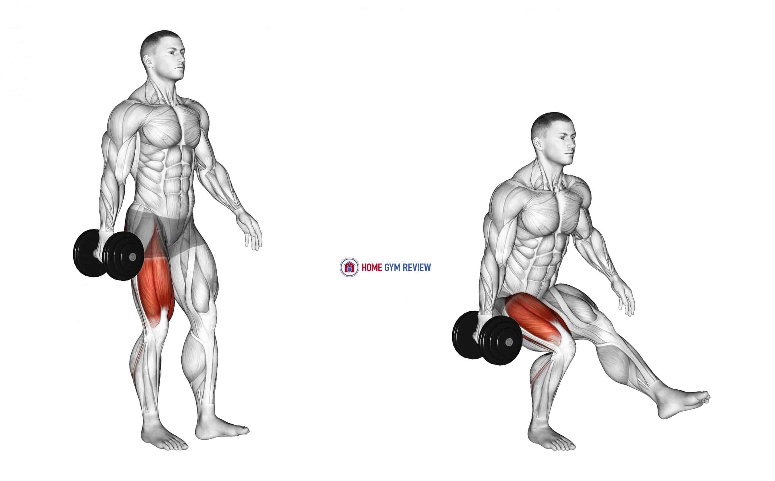 Dumbbell Single Leg Squat (VERSION 2) (male)