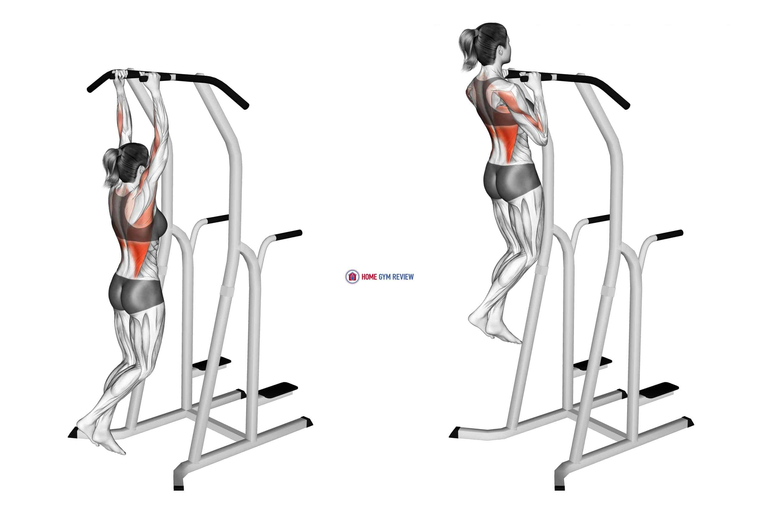 Hammer Grip Pull-up on Dip Cage (female)