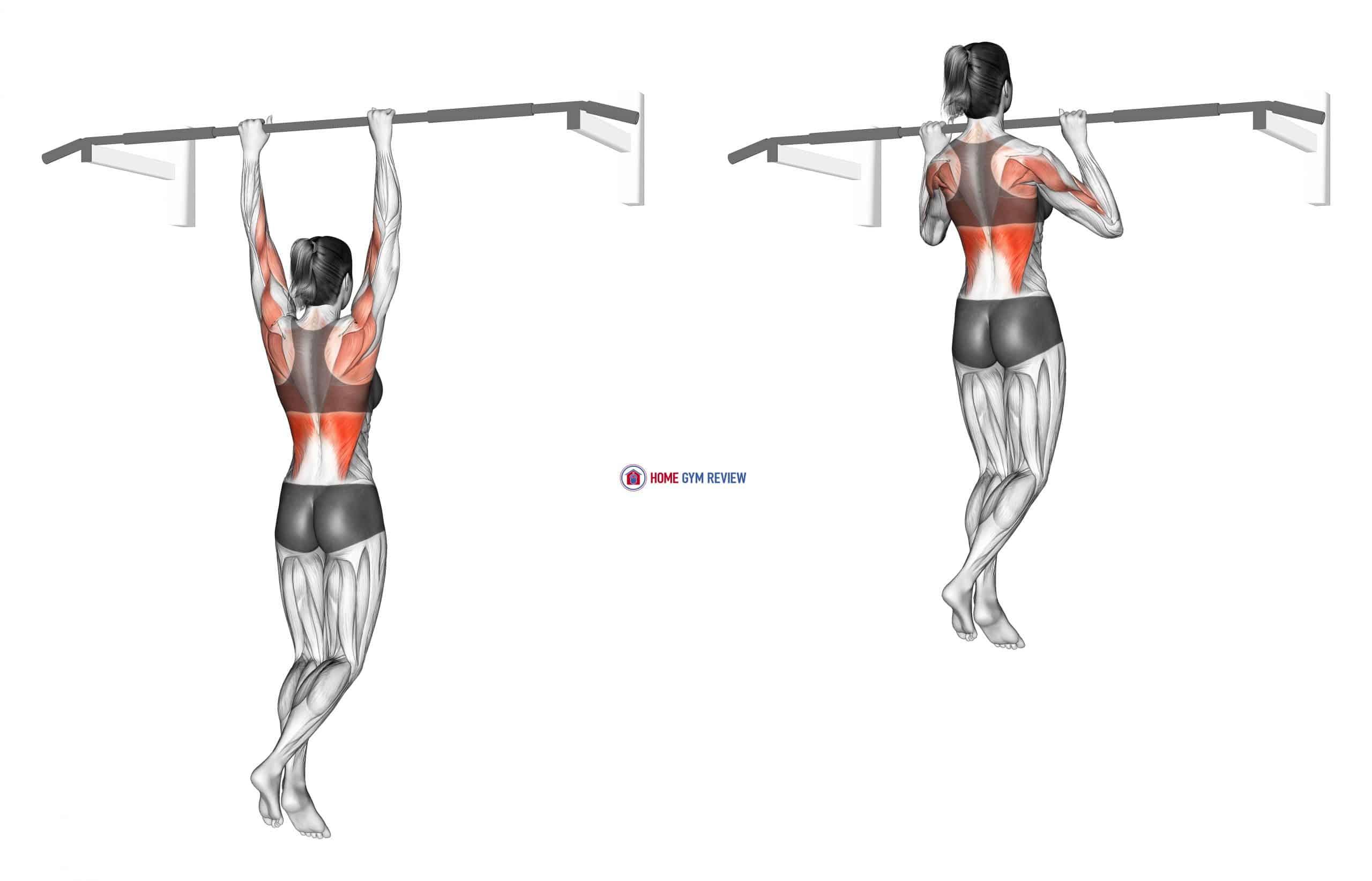 Shoulder Grip Pull-up (female)