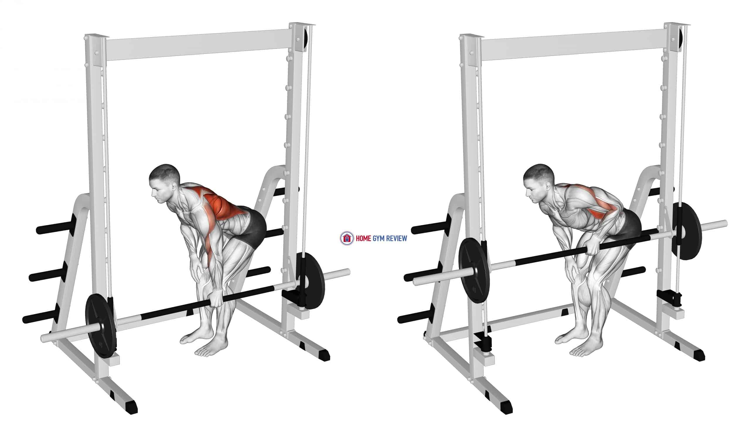 Smith Single Arm Bent-Over Row